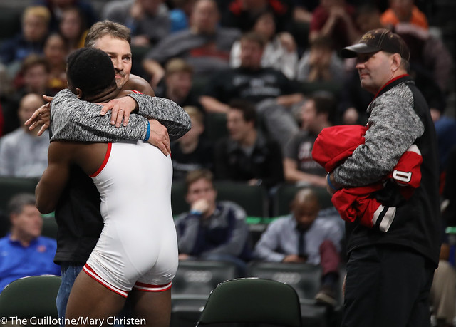 1st Place Match - Isaiah Thompson (Detroit Lakes) 45-6 won by decision over Justin Henry (Foley) 40-14 (Dec 7-5). 180303CMC7177