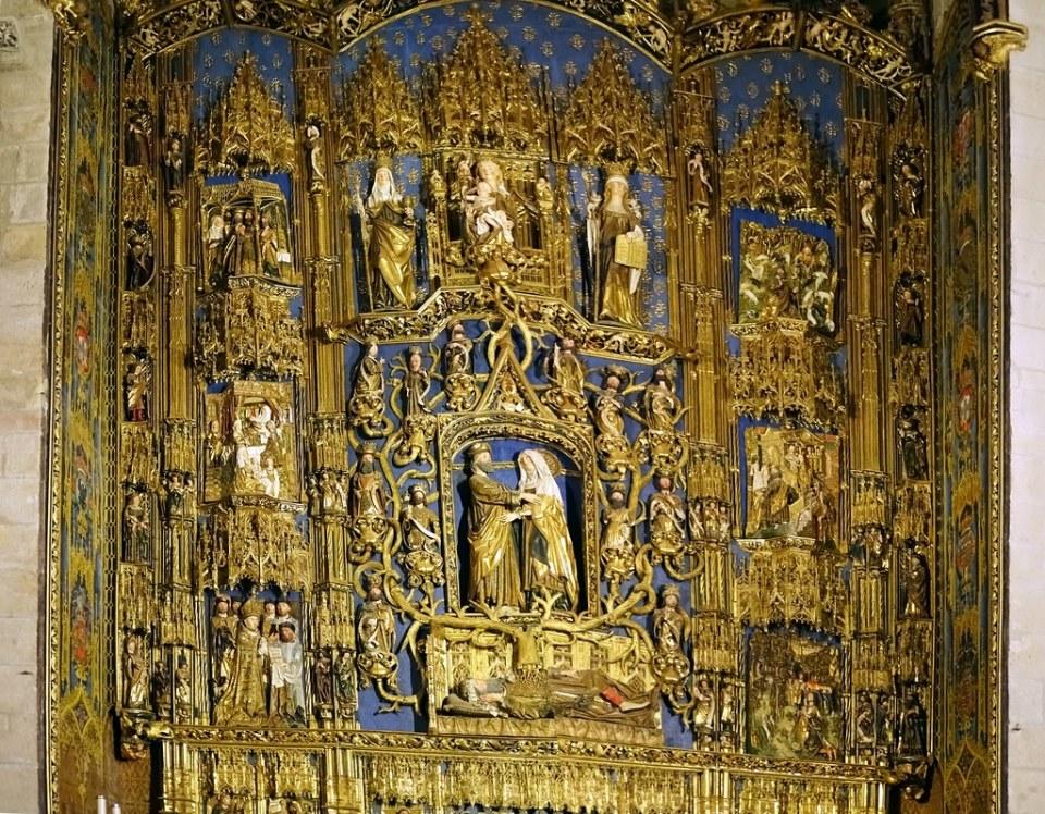 Catedral de Burgos Capilla de la Concepción o Santa Ana Retablo mayor de Gil de Siloé 02