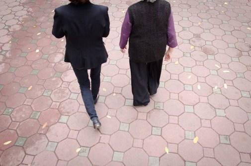 Two Woman take a Walk
