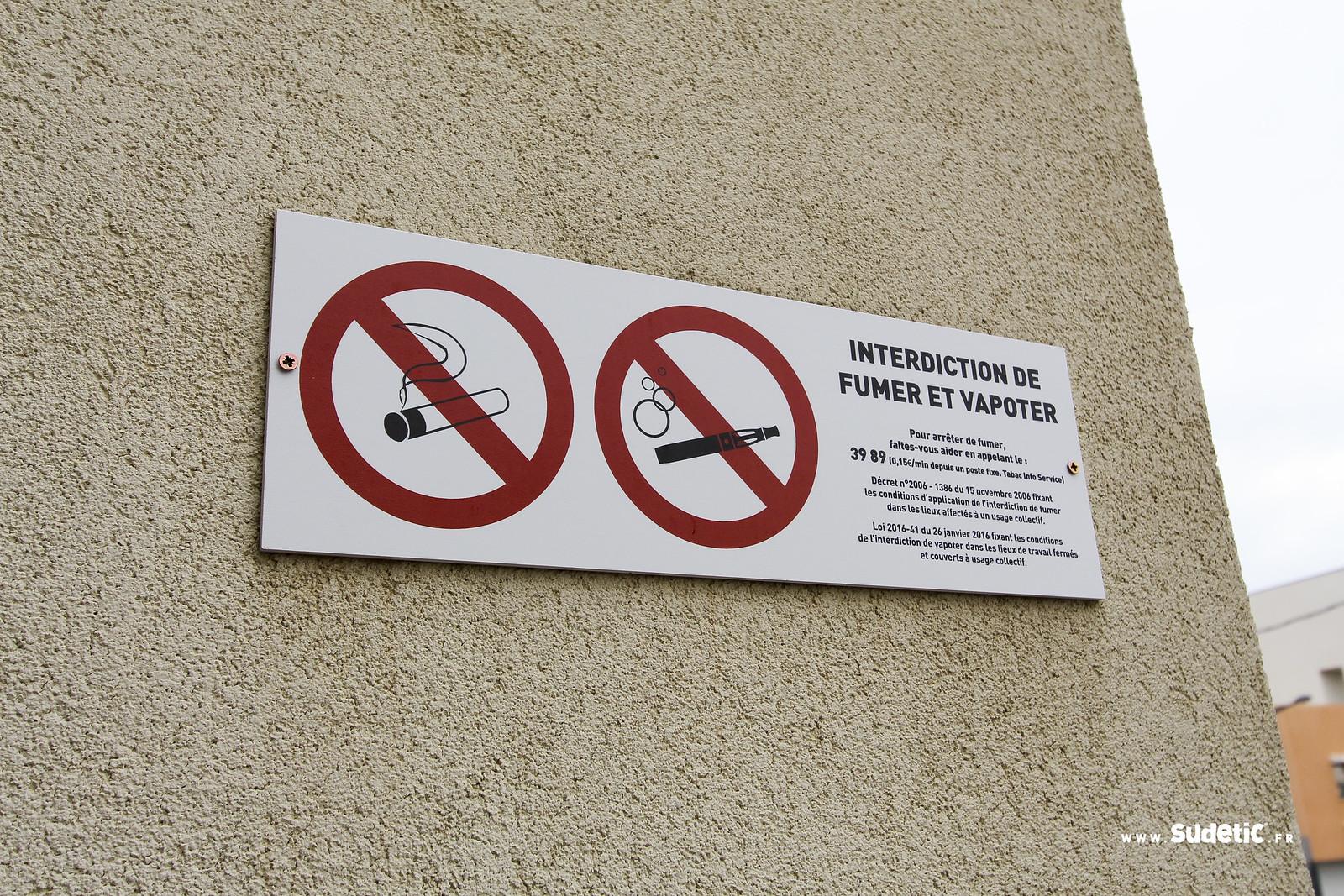 Sudetic panneaux interdiction de fumer ITEP-2