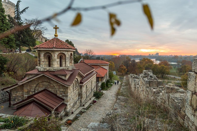 Sunset at Saint Petka church