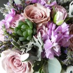 Bridesmaid Bouquet Amnesia Roses Succulents Lavender Sp Flickr