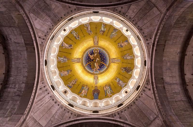 The main dome of the Saint Sava Temple