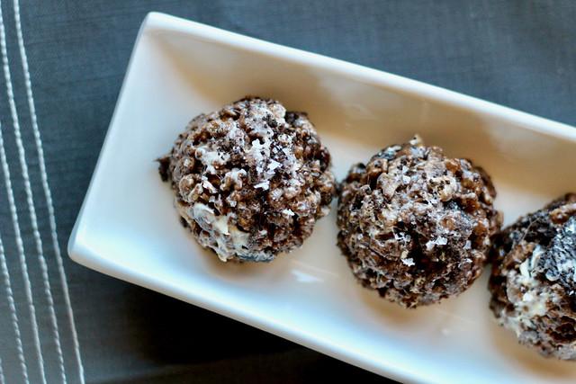 Salted Cookies & Cream Rice Crispy Treats - 18