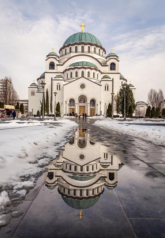 Reflection Saint Sava Temple