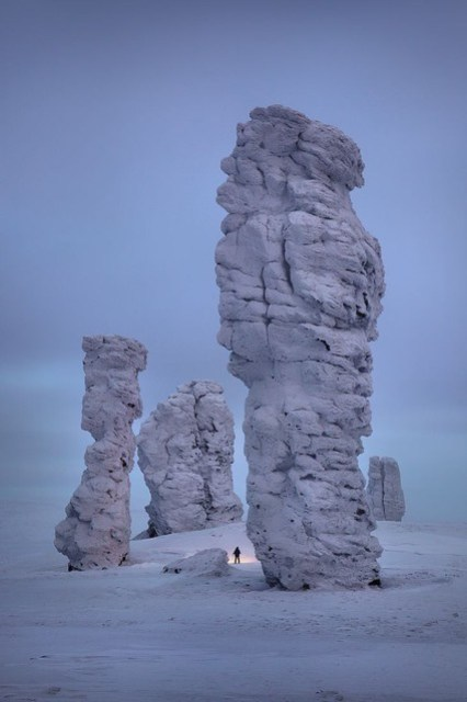 🌍 Manpupuner rock formations, Ural Mountains, Russia