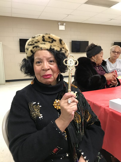Lillie Bryant Howard with the Key to the City!