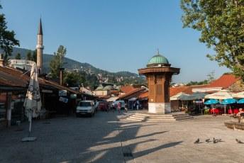 Dit was dagelijks mijn beginpunt, het icoon van de oude stad de Sebilj Fontein.