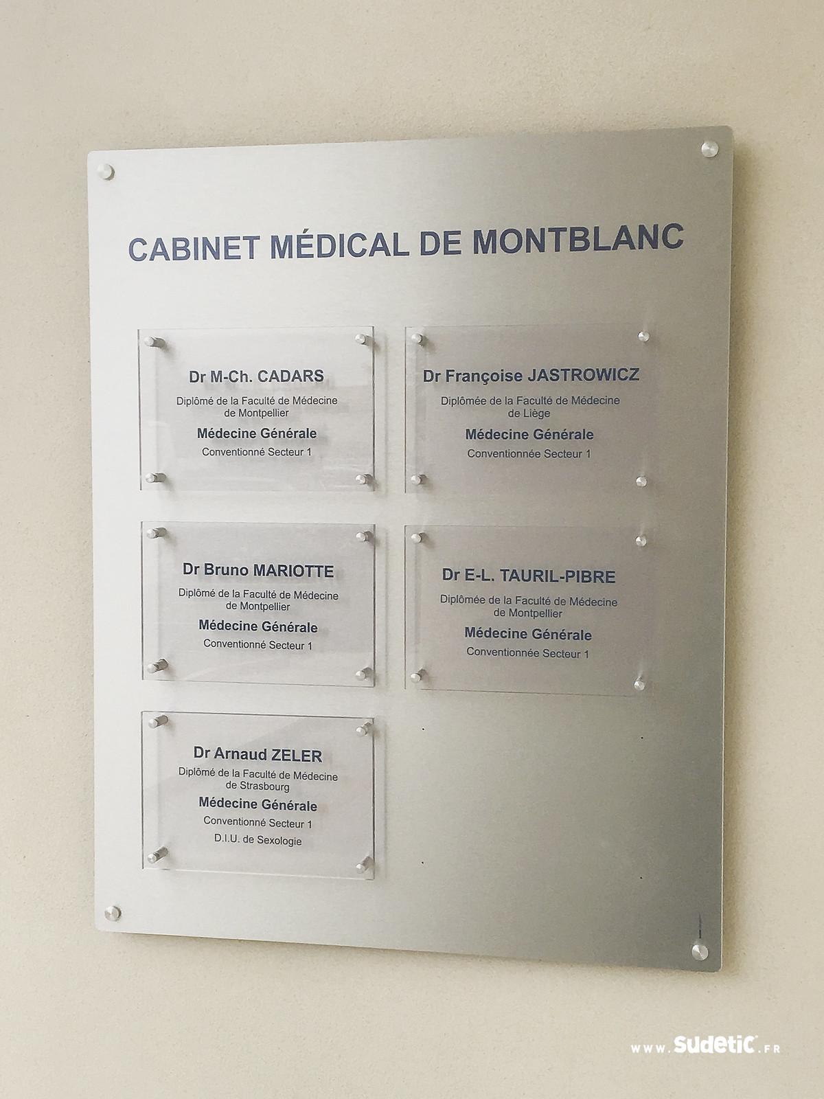 Sudetic plaque pro cabinet medical Montblanc