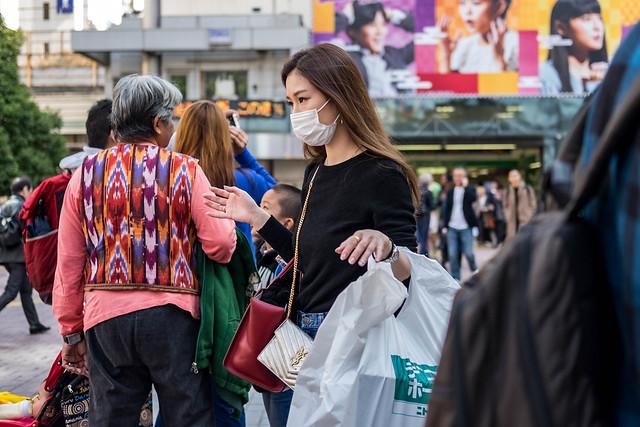 Parting The Human Sea Candid Street Photography Shibuya, Tokyo, Japan