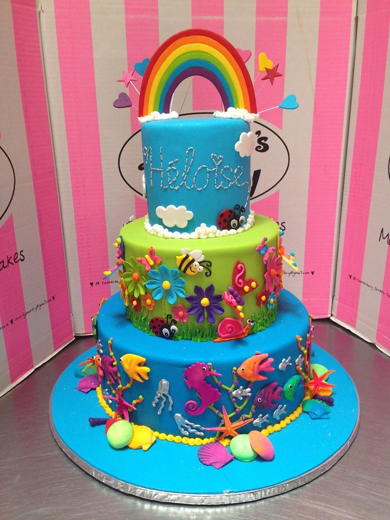 3 Tier Birthday Cake With Underwater Sea Theme Happy Gard Flickr