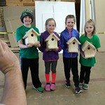 Junior Wildlife Club Building Birdhouses