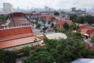 Skyline of Bangkok from The Golden Mountain