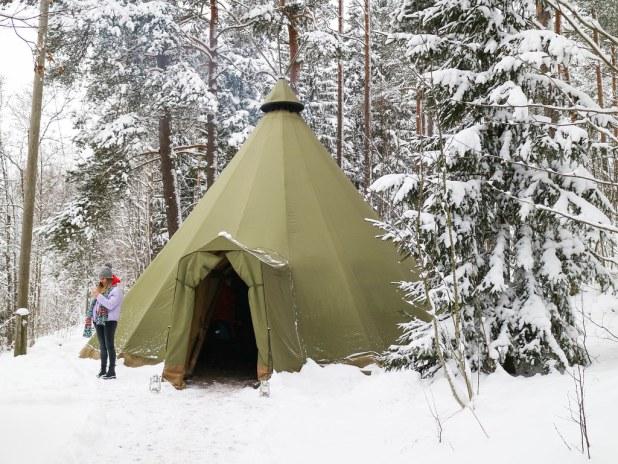 Cabaña tradicional finlandesa