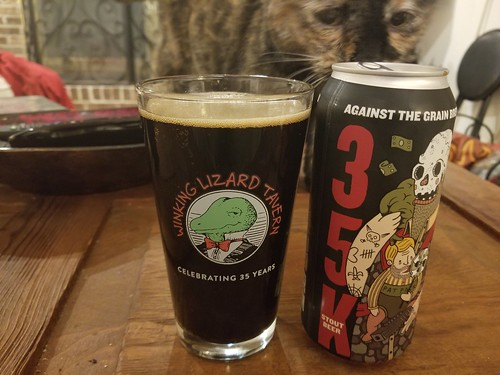 2019 Winking Lizard World Tour of Beers #3: Against the Grain 35K stout - Very rich and flavorful. I'm actually glad this is not a nitro stout.