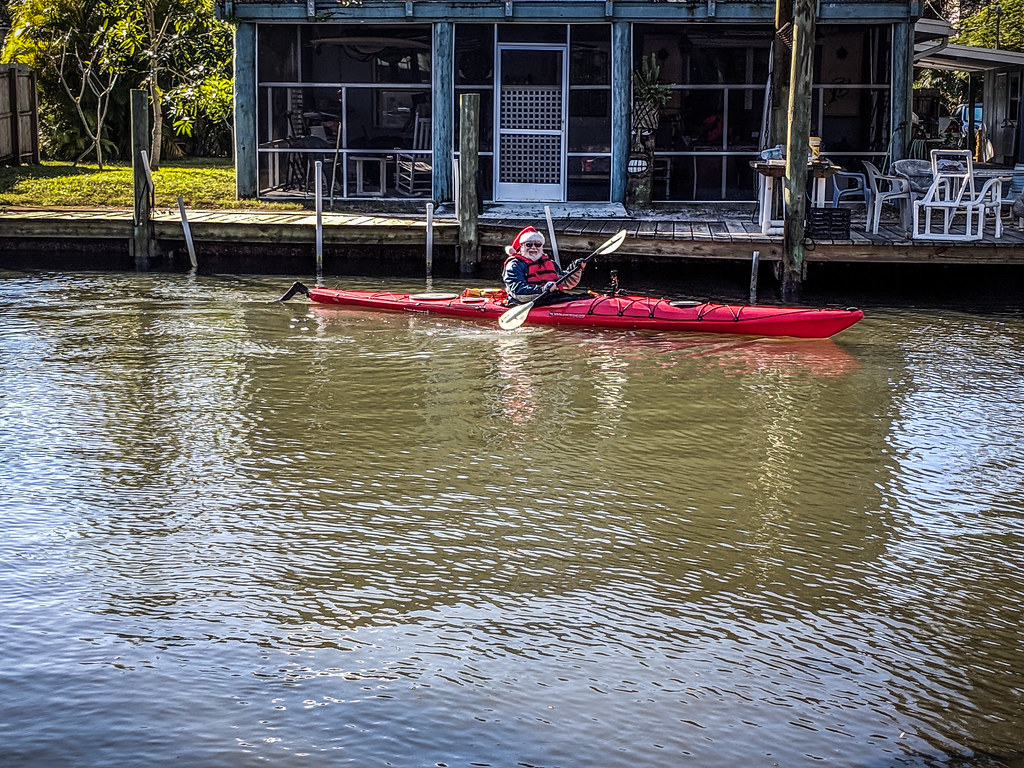 Santa Paddle on the Indian River-024