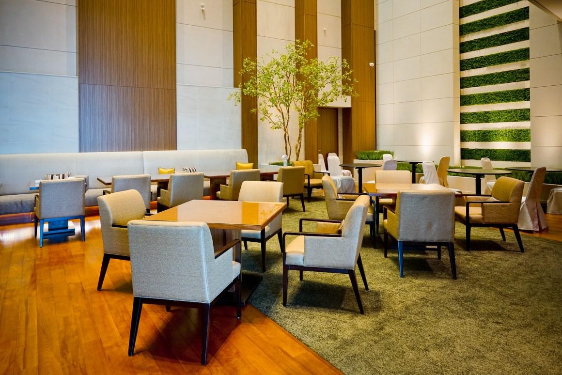 大阪萬豪都酒店 行政酒廊環境座位