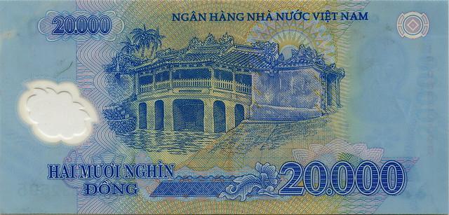 Vietnam - 20000 Dong - back