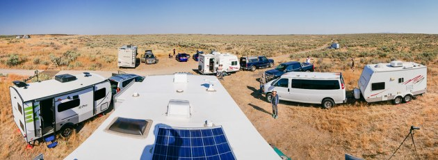 Campsite From Trailer Roof