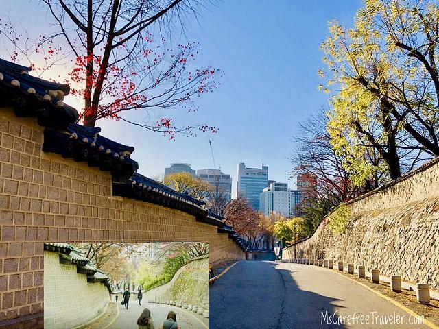 Goblin filming location, Deoksugung Stone-wall Road, Seoul, Korea