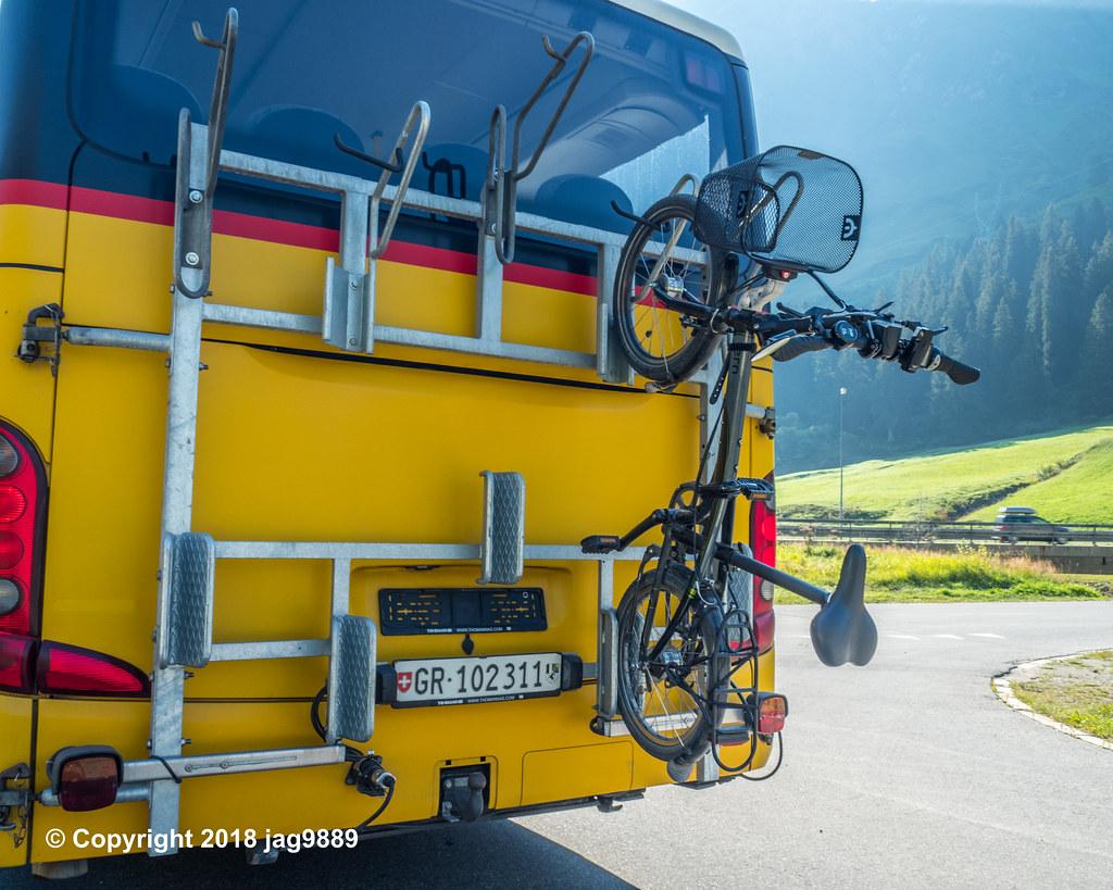post auto bike rack hinterrhein canton of graubunden sw flickr