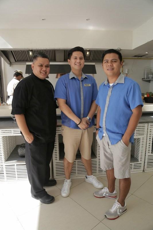 Chef Ghel Bagwan, Rome Garcia and Julius Alegre