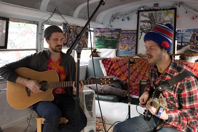 Music on the Art Heart Bus