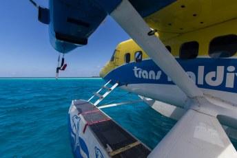 Onze eerste keer in een watervliegtuig, heel gaaf.