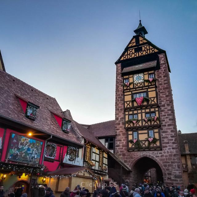 · Torre Dolder en Riquewihr, uno de los pueblos más bonitos de Alsacia · Alsacia en Navidad ·