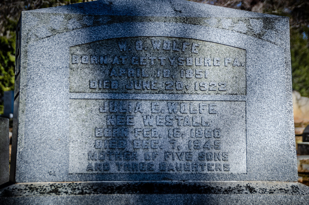 W. O. and Julia Wolfe Grave