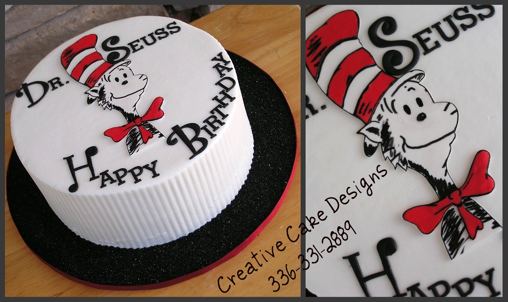 Dr Seuss Birthday Cake Buttercream Cake Hand Cut Out The Flickr