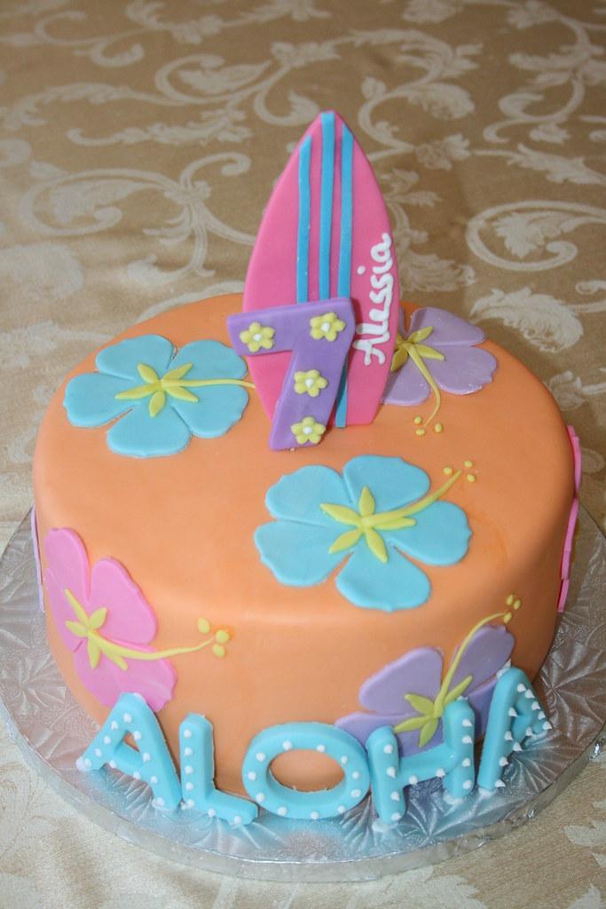 Hawaiian Themed Birthday Cake Sia Karageorgos Flickr