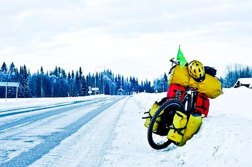 My bike on the roadside