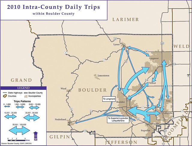 2010 Intra-County Daily Trips for Boulder County