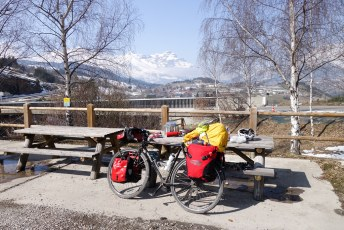 Last lunch in the Grand Alps, before taking on the Col du Noyer