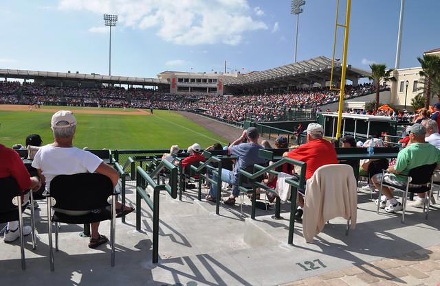 Left Field Pavilion Seating, Baltimore Orioles Spring Training, Sarasota, Fla., March 5, 2011