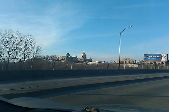 Scenic route near Des Moines capitol