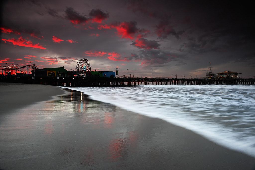 Santa Monica Pier At Sunrise Lost Transmissions I Ve