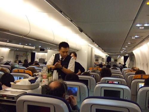 Lufthansa A380 inside