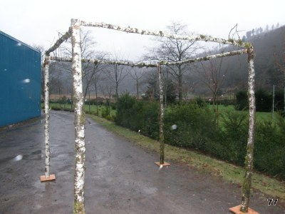 wedding pergola birch organic arch straight top