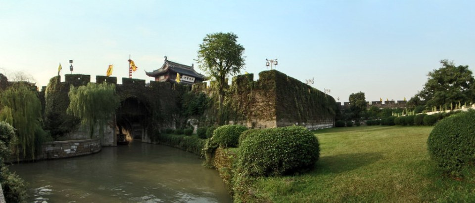 Puerta Pan o Pan Men Suzhou China Patrimonio de la Humanidad Unesco 01