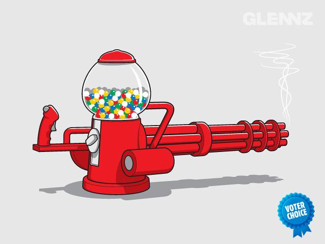 Gumball Machine Gun T-shirt