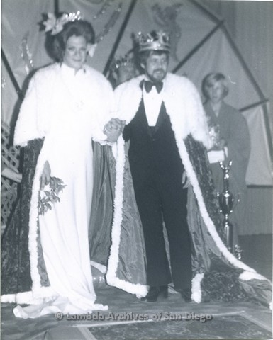 1976 - Newly Crowned Empress Morgana - Craig Morgan (left) and Emperor Terry (right) at the 'Oriental Fantasy'.