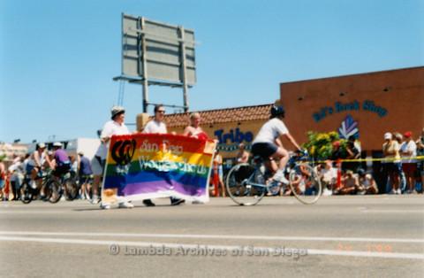 P018.166m.r.t San Diego Pride Parade 1999: San Diego Women's Chorus marchers