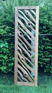 Natural cedar wood garden art