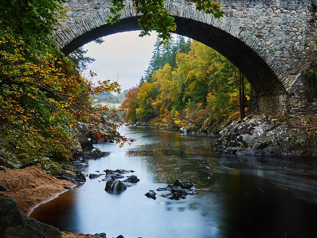 Autumn at Daltulich Bridge, Near Forres