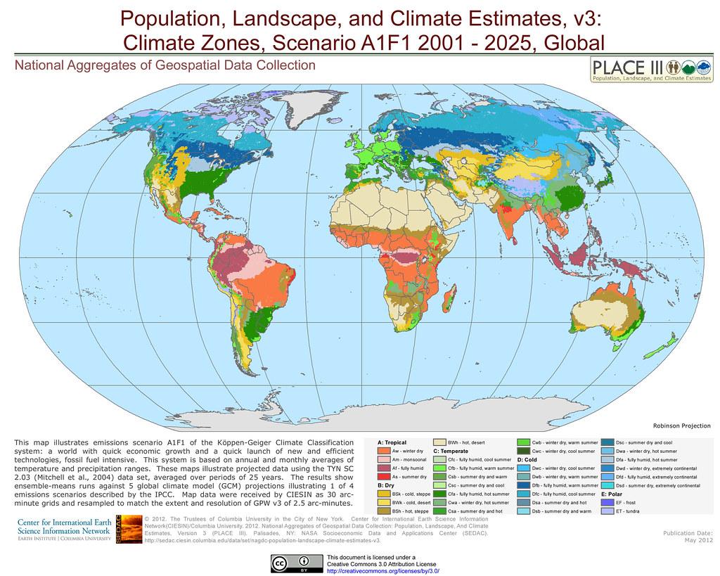 Climate Zones Scenario A1f1
