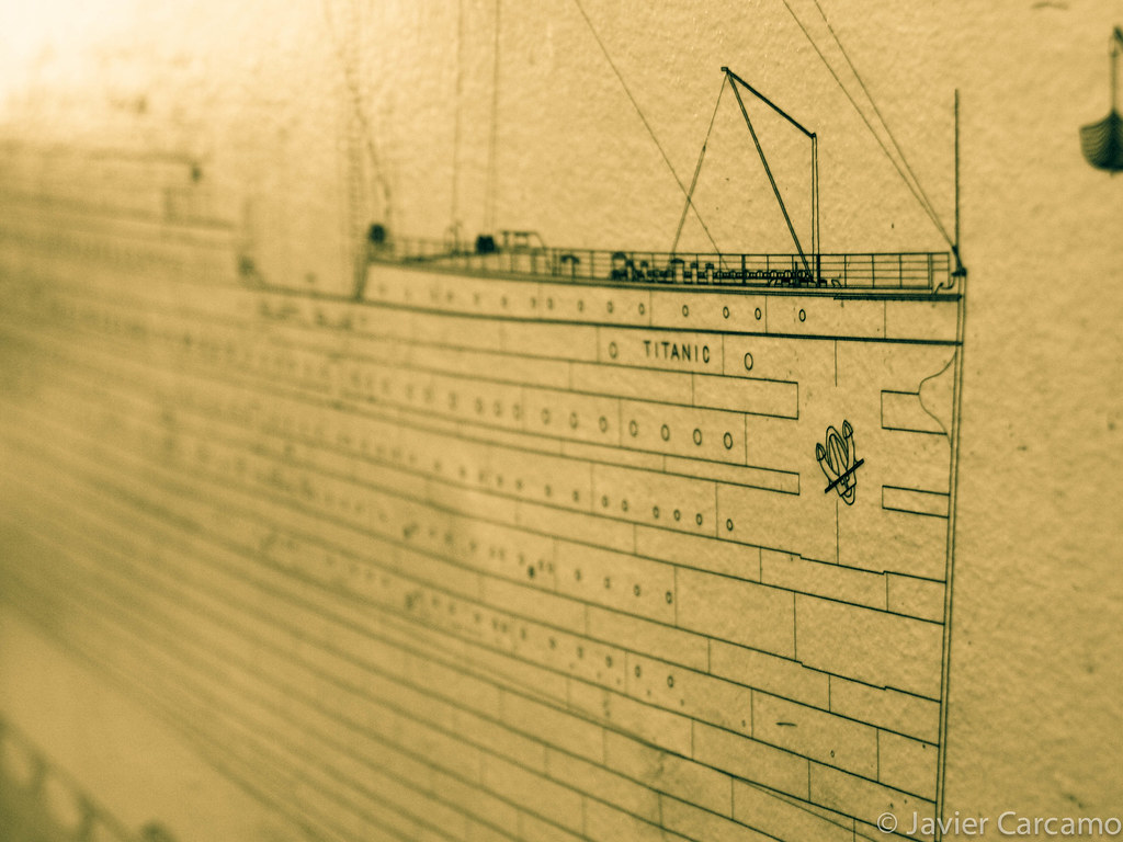 Titanic Blueprints As Displayed At Quot The Grapes