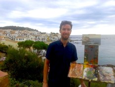 Daniel J Keys Oil Painting Workshop Spain with www.frenchescapade.com