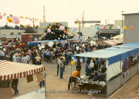 1982 - San Diego Lambda Pride Festival booths.